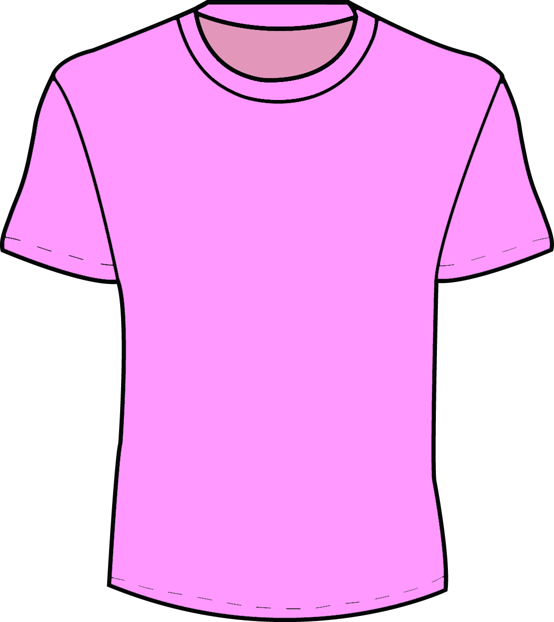 t shirt shape clipart - photo #38