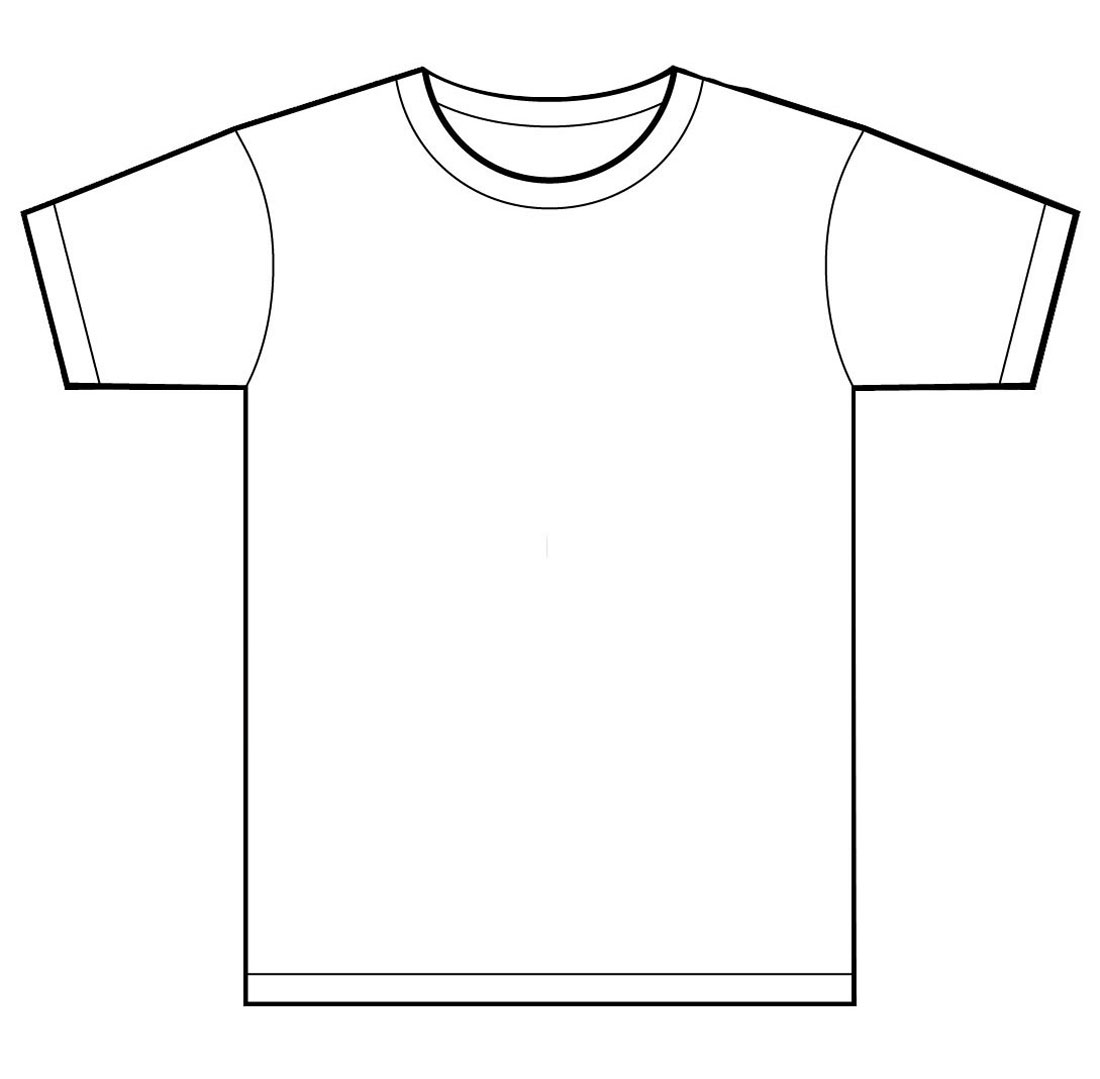 T shirt template for kids clipart best for Clothing templates for illustrator