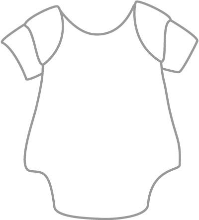 Baby Onesie Outline - ClipArt Best