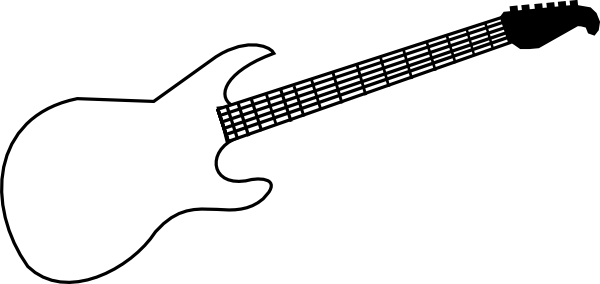 electric guitar outline clipart best