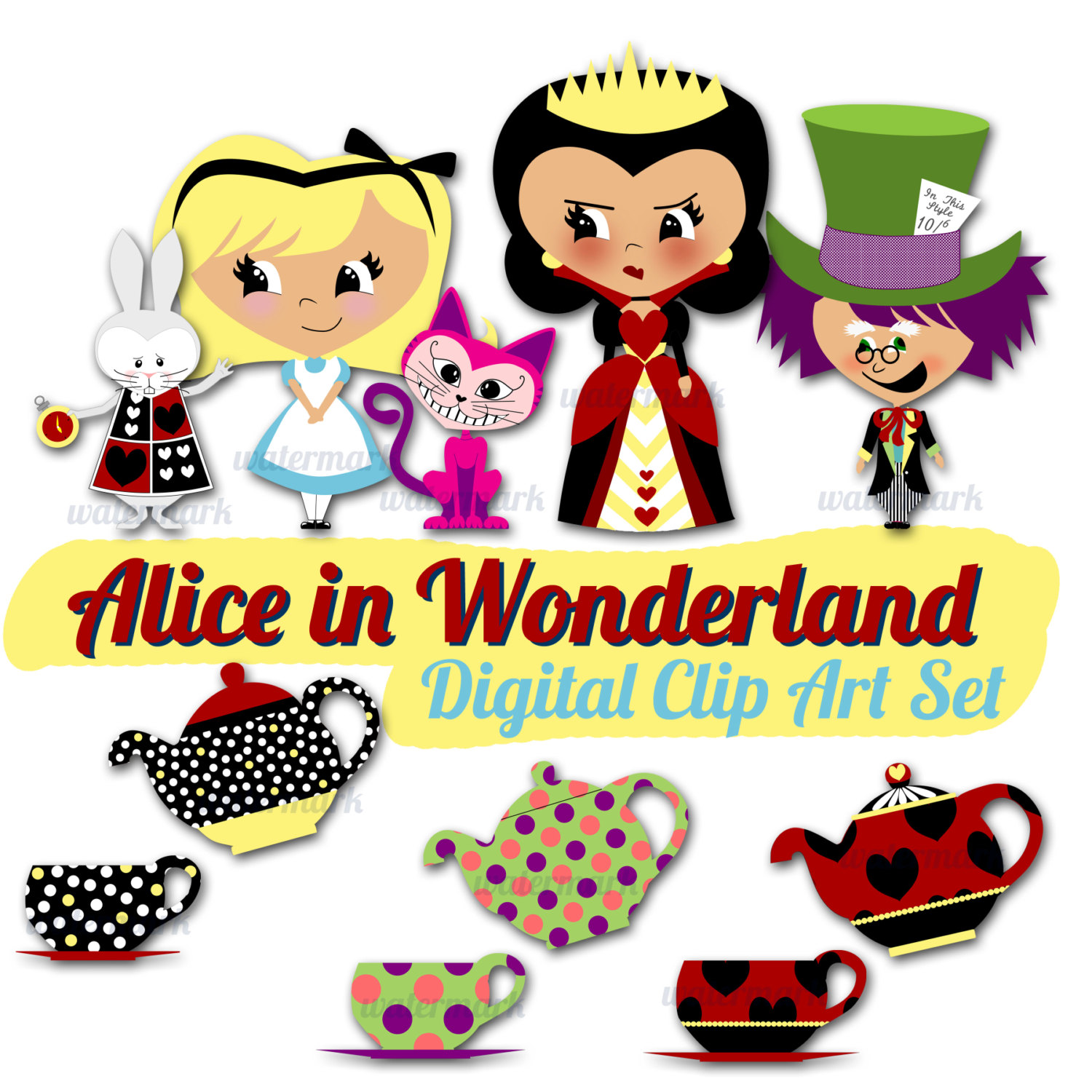 Image of Alice In Wonderland Clipart #2701, Alice In Wonderland ...