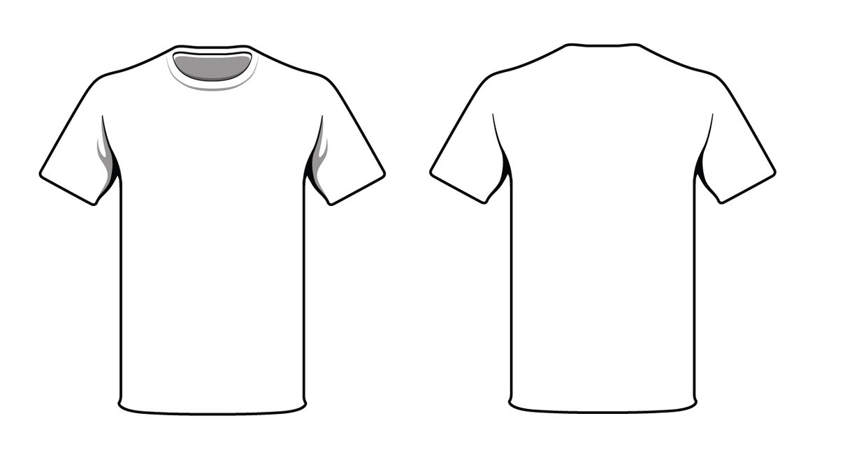 T shirt outline printable clipart best for Template for t shirt design