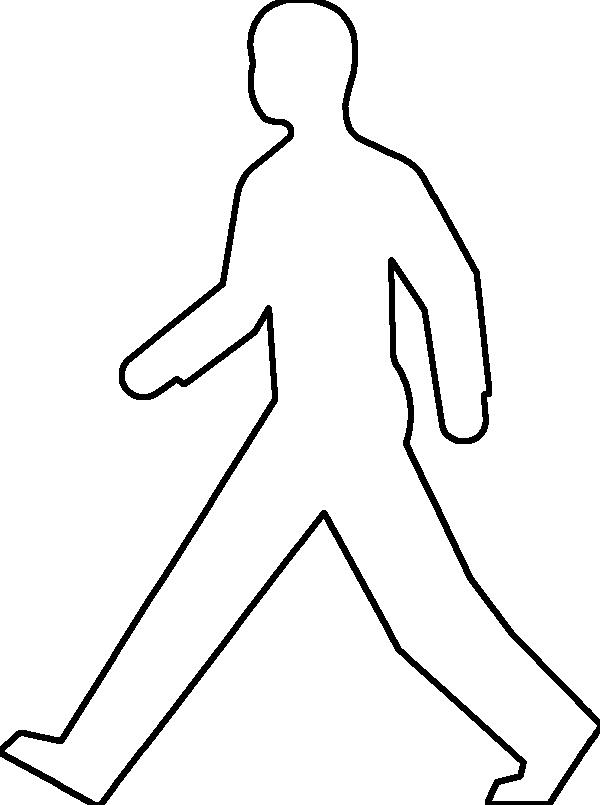 Outline Drawing Of A Person