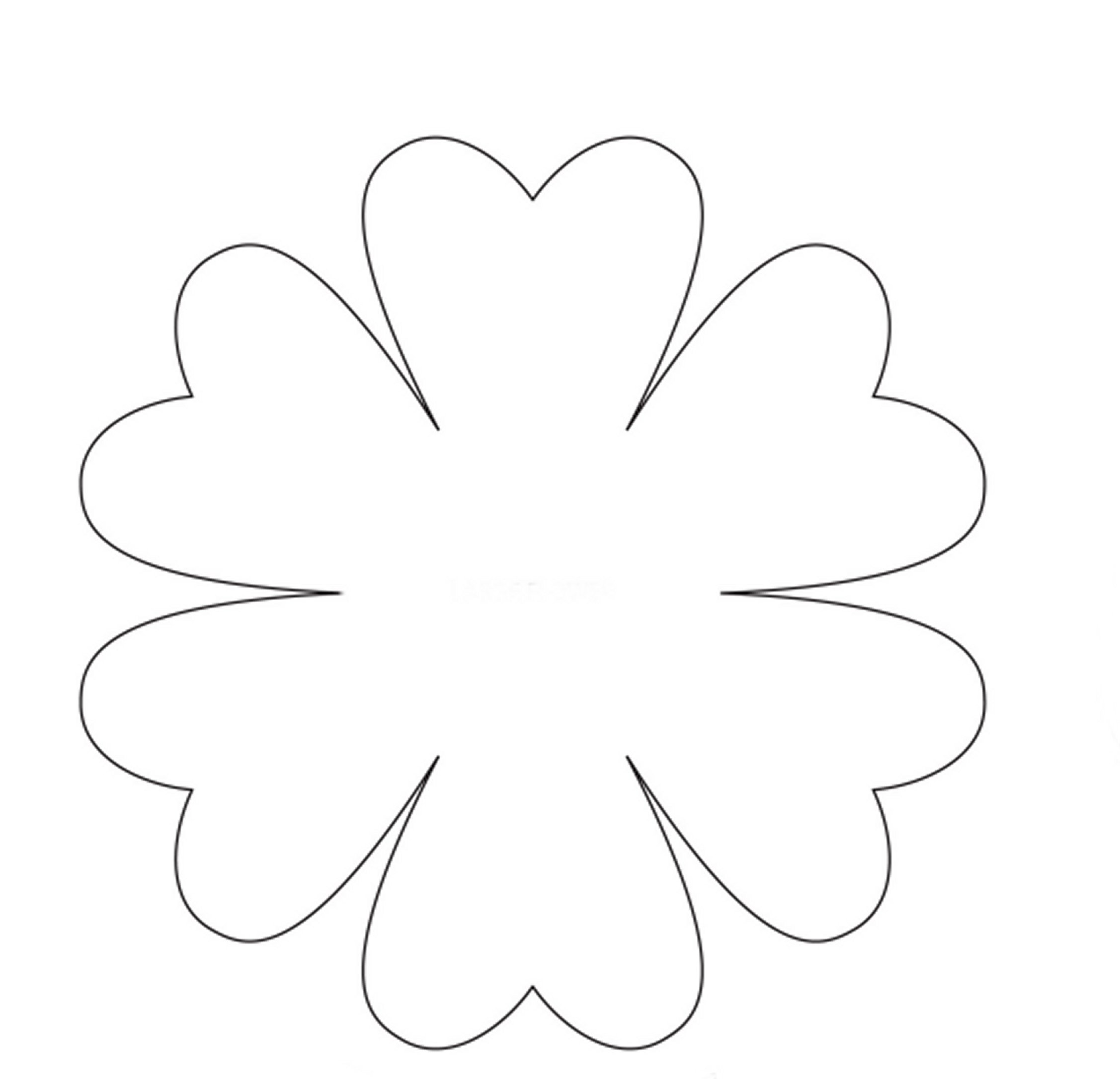 easter lily petal template