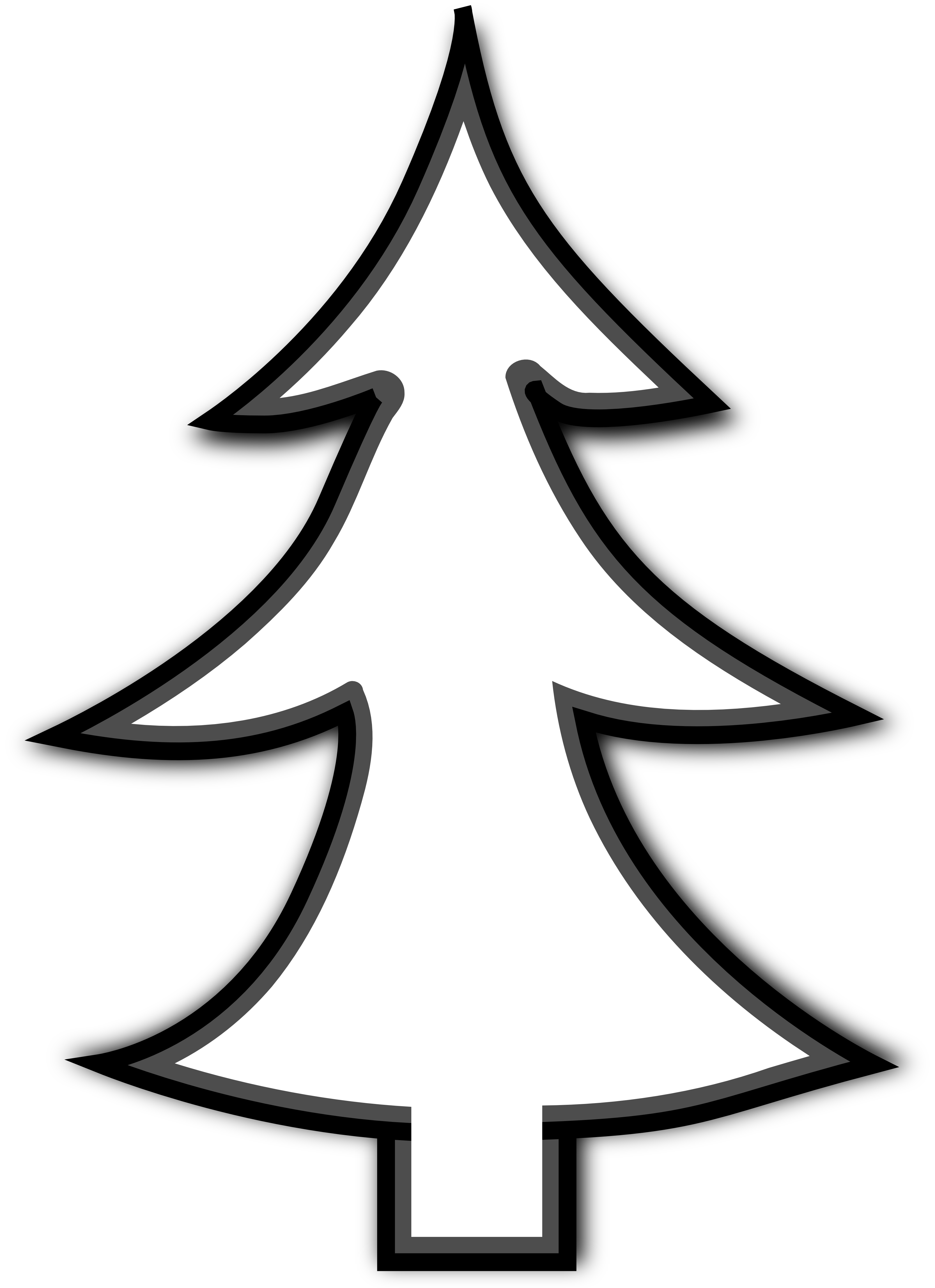 Christmas Tree Clip Art Black And White ClipArt Best