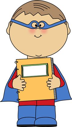 Free clip art of children as super heroes clipart best - One of your students left their book on the table ...