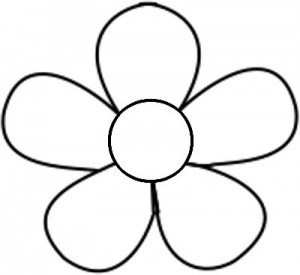 Free printable flower templates clipart best for Daisy cut out template