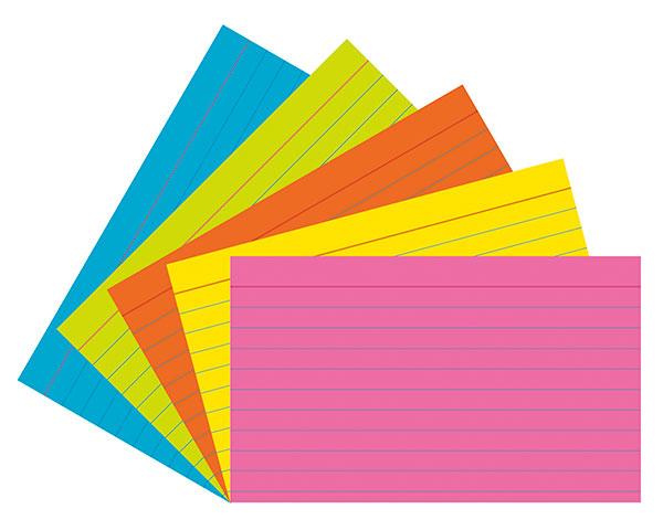 index cards design
