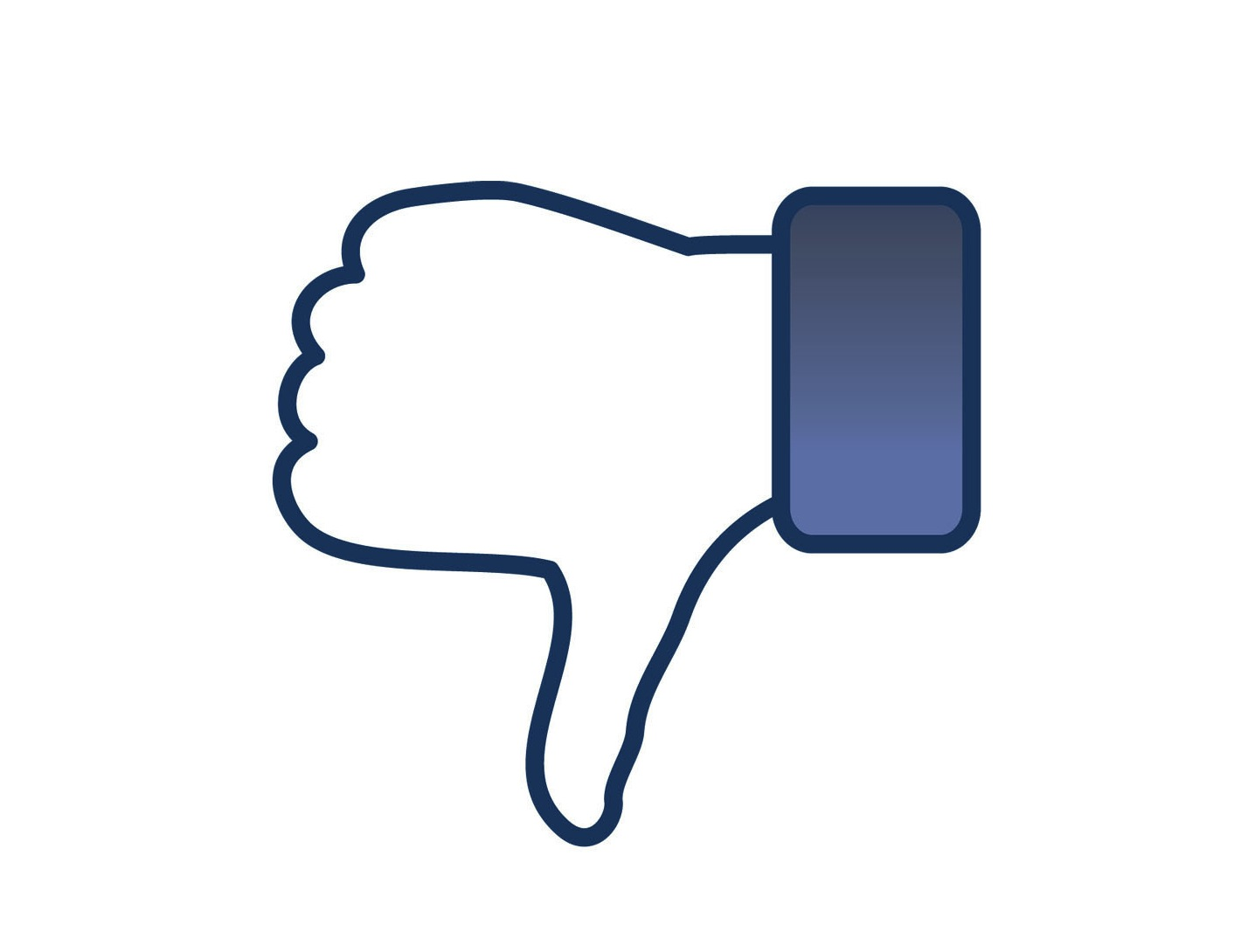 Facebook Thumbs Down Clipart