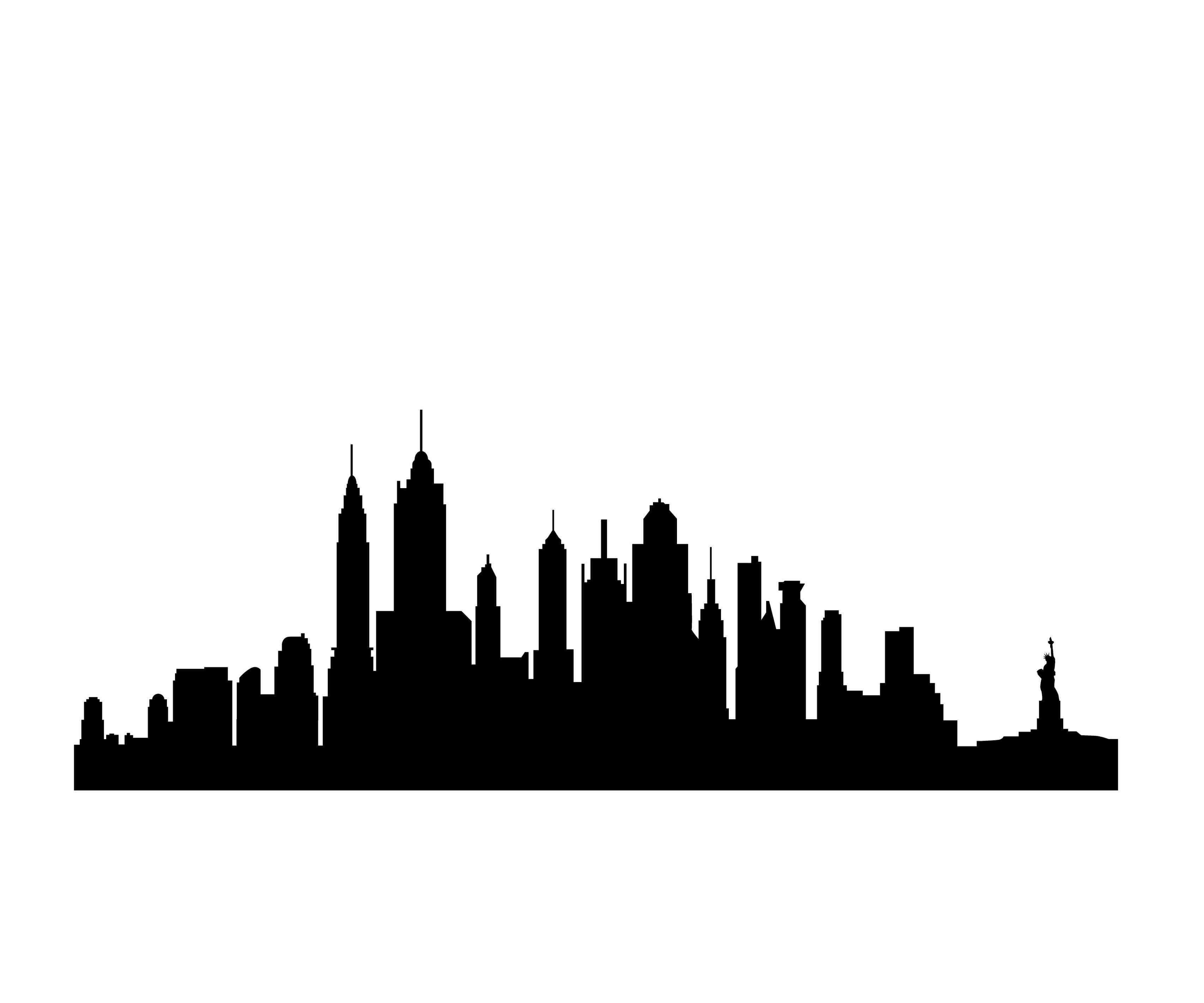 Line Art New York : New york skyline silhouette clipart best