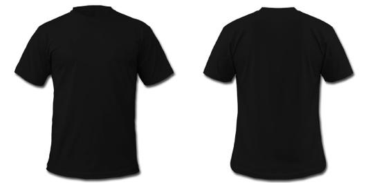 black t shirt front and back template clipart best. Black Bedroom Furniture Sets. Home Design Ideas