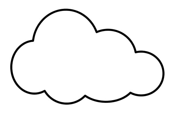 Clouds for coloring clipart best for Coloring pages clouds