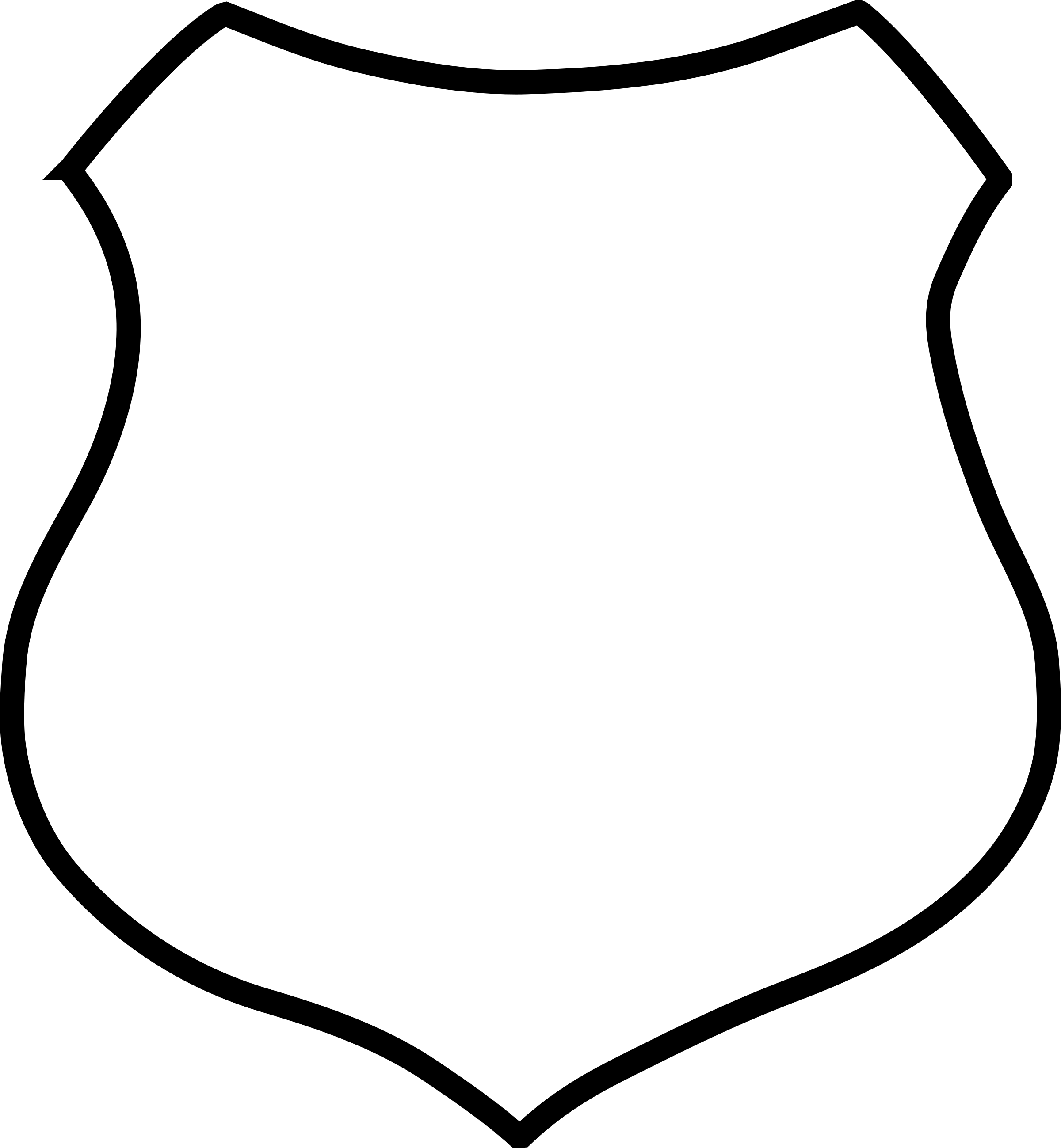 blank shield template printable - blank crest shield clipart best