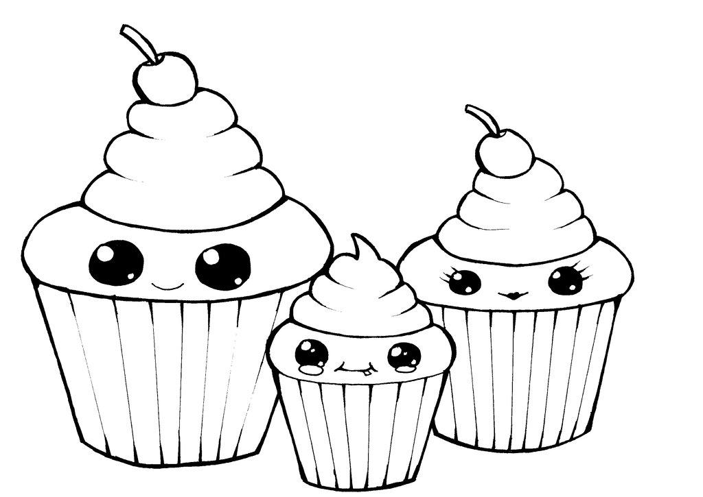 Line Art Design Illustration : Cupcake line drawing clipart best