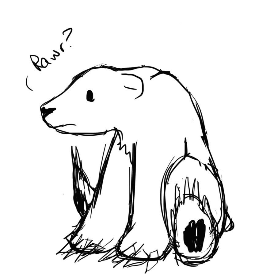 Line Drawing Bear : Polar bear line drawing clipart best