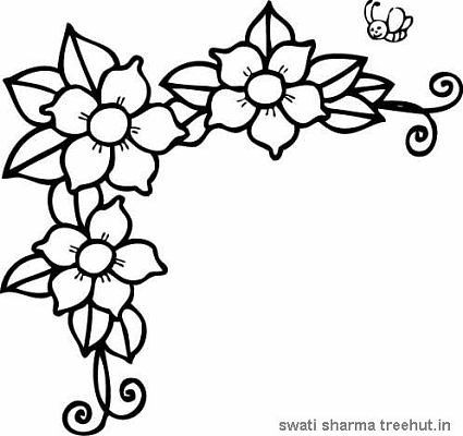 Flower Border Coloring