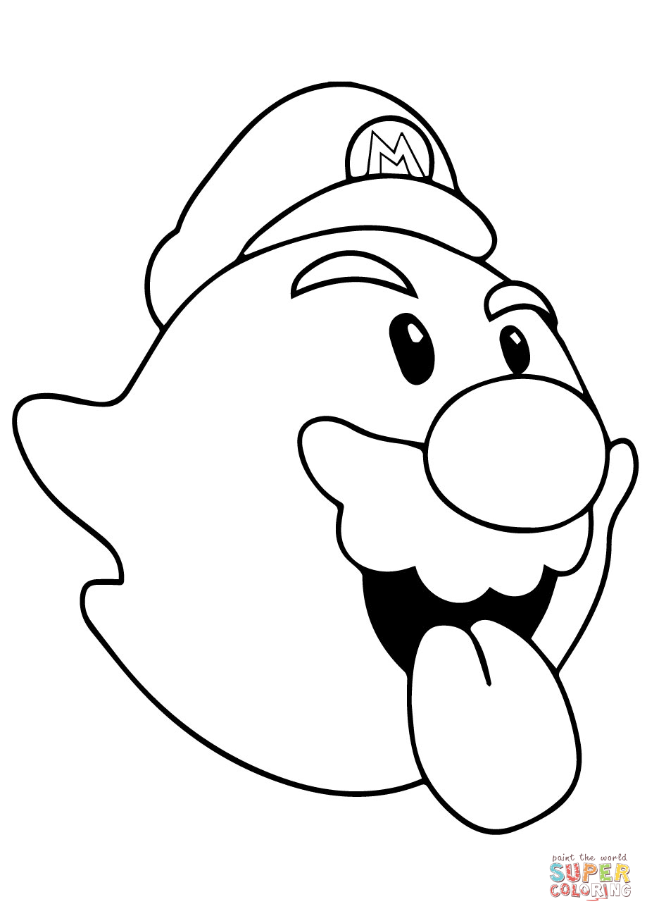 King Boo Coloring Pages Clipart Best