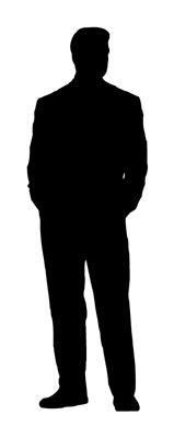 Silhouette Of Standing Man - ClipArt Best