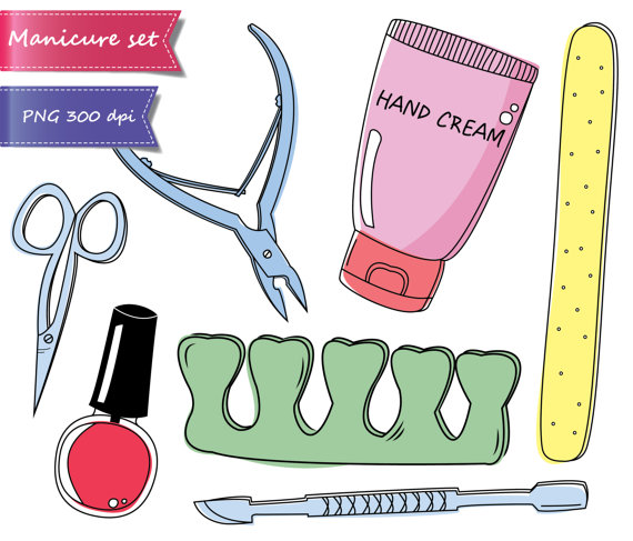 Free Manicure Beauty Hands Makeover: Pedicure Clip Art