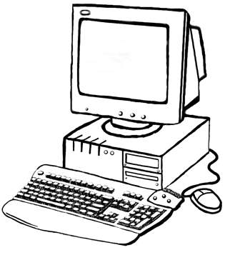 Computers coloring pages ~ COMPUTER COLORING BOOK - ClipArt Best