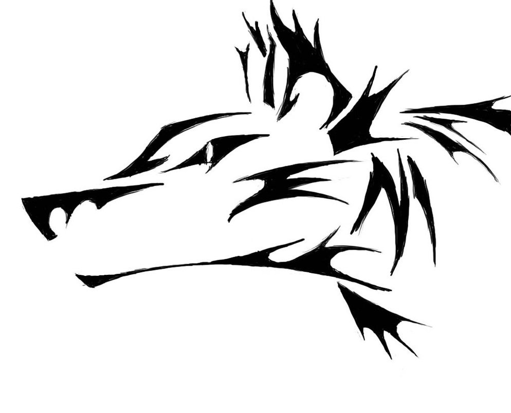 Tribal wolf outline