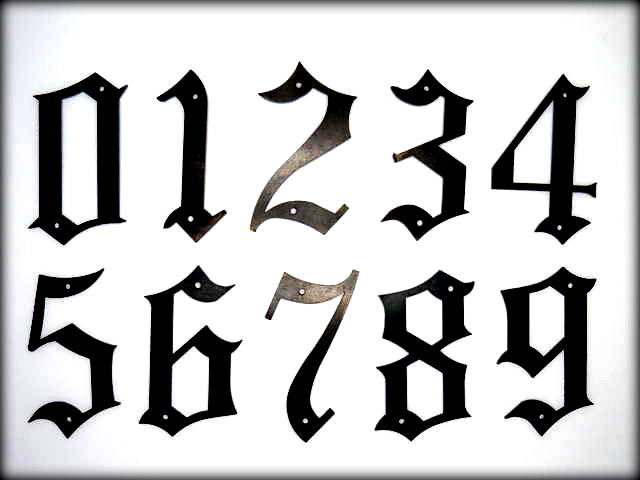 Numbers old english clipart best for Classic house number fonts
