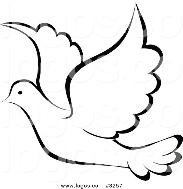 Best Photos of Dove Bird Template - Flying Paper Bird Template ...