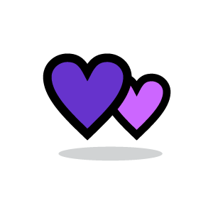 Purple Hearts - ClipArt Best