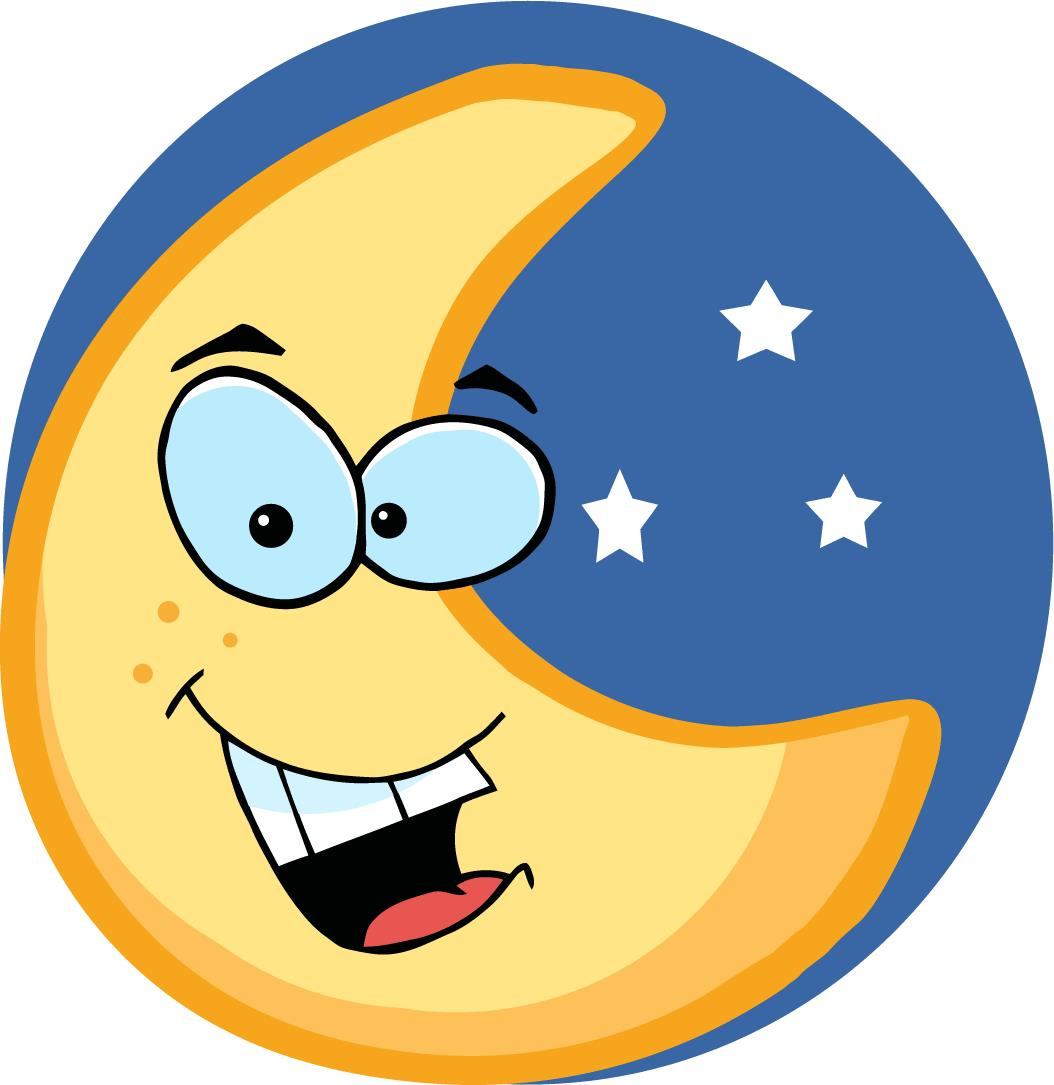 free clip art moon and stars - photo #45