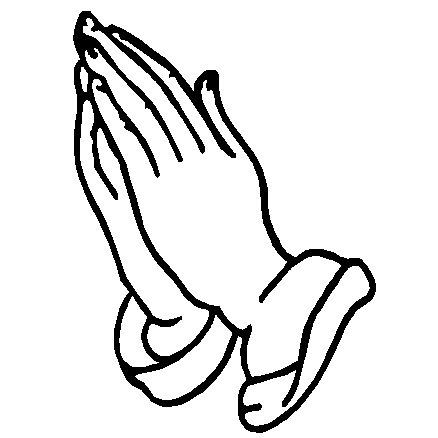 Pray Hands Decal Religious