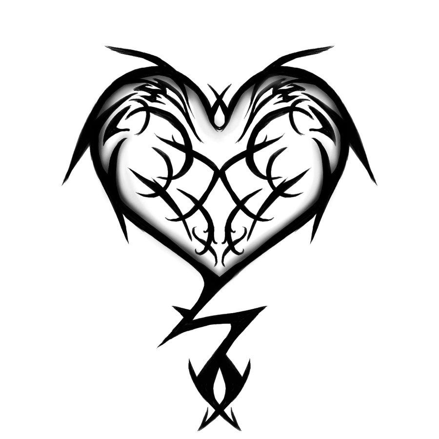 Tribal Heart Tattoo Design ClipArt Best