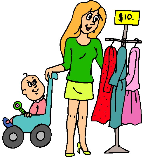 free clipart clothes shopping - photo #35