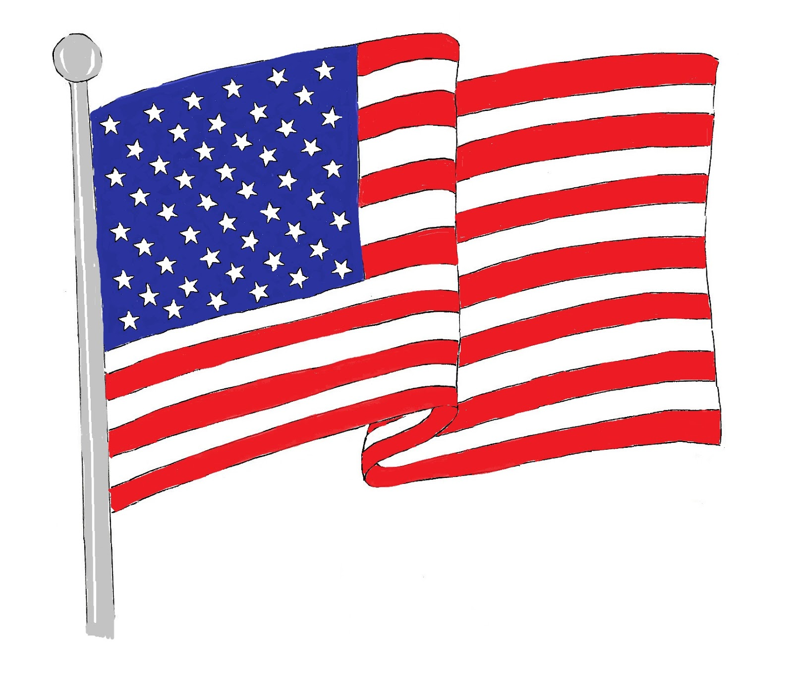 clip art of american flag animated - photo #18