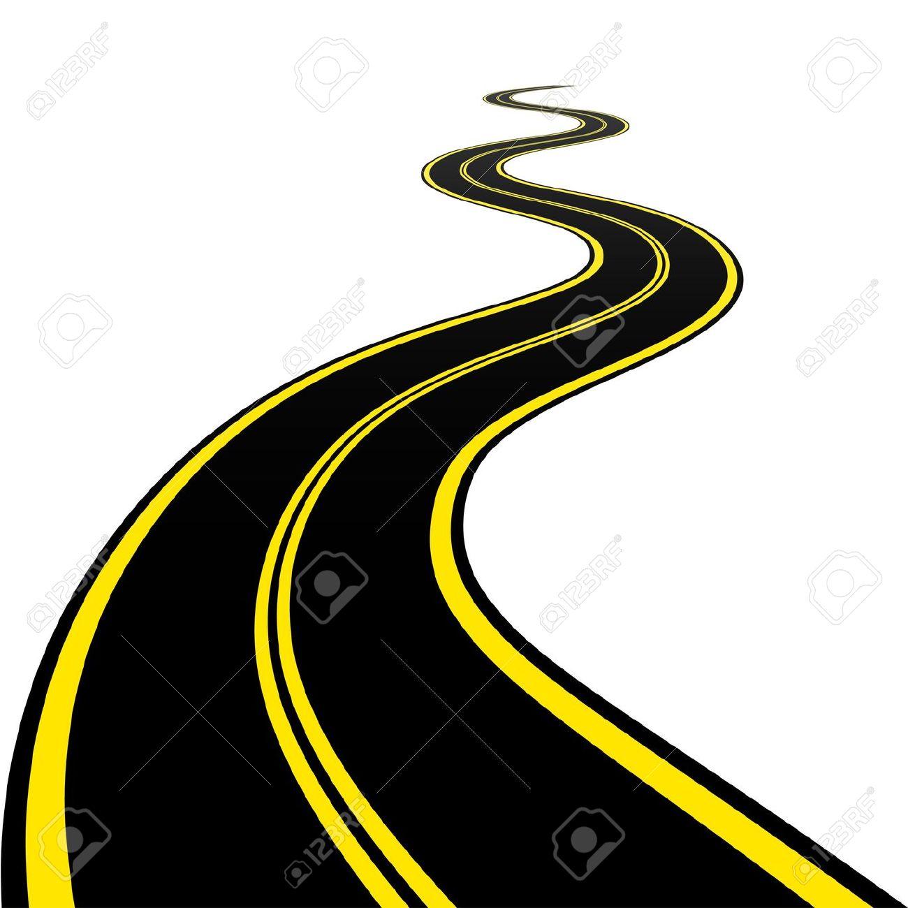 Winding Road Clipart Road Vector Art - Clip...