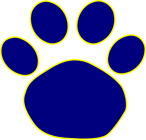 Blue Clues Pawprint - ClipArt Best