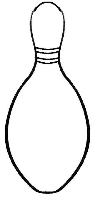 Free Printable Bowling Pin Template Clipart Best