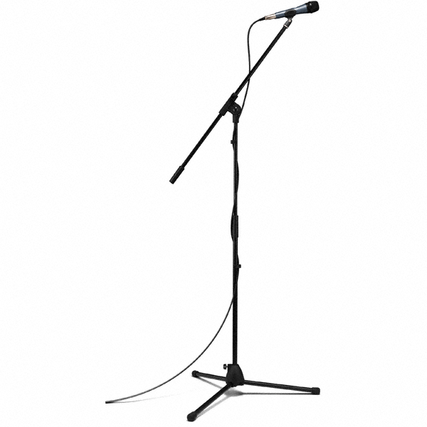 Mic Stand With Mic Silhouette - ClipArt Best