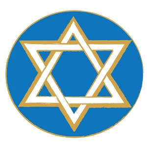 Star Of David Clipart Image - Blue Gold and White Star of David ...