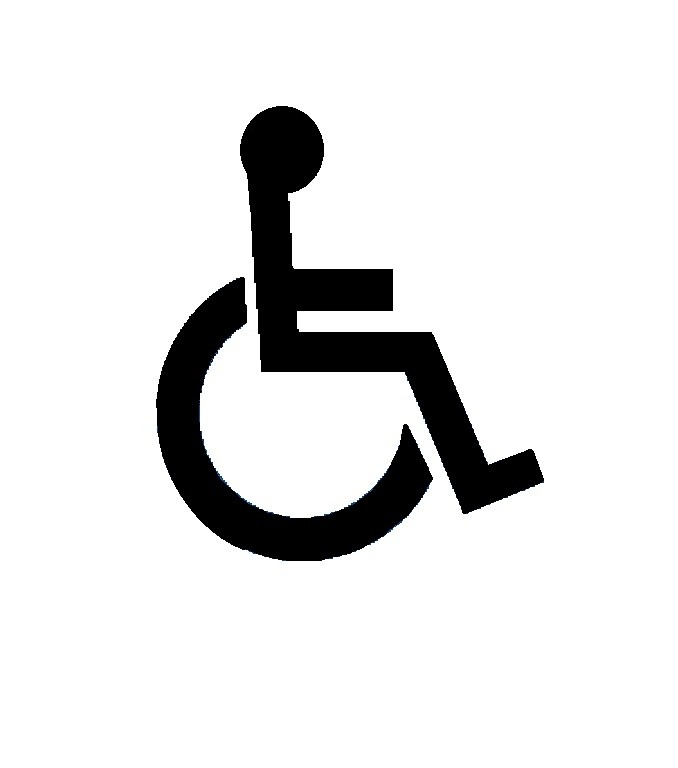 Disabled person logo 1400mm x 900mm - Stencil Templates
