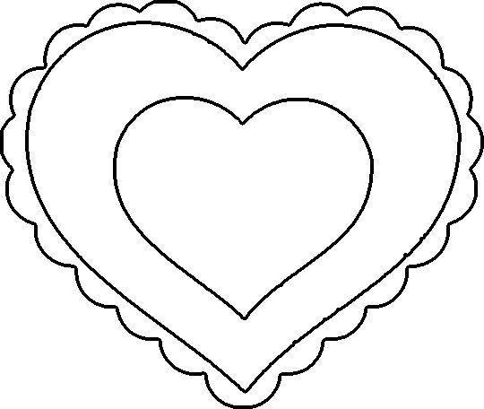 free clipart heart template - photo #41