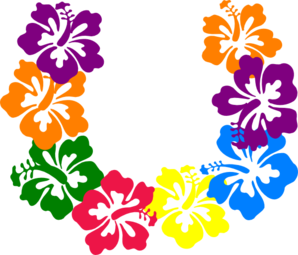 Hibiscus Lei clip art - vector clip art online, royalty free ...