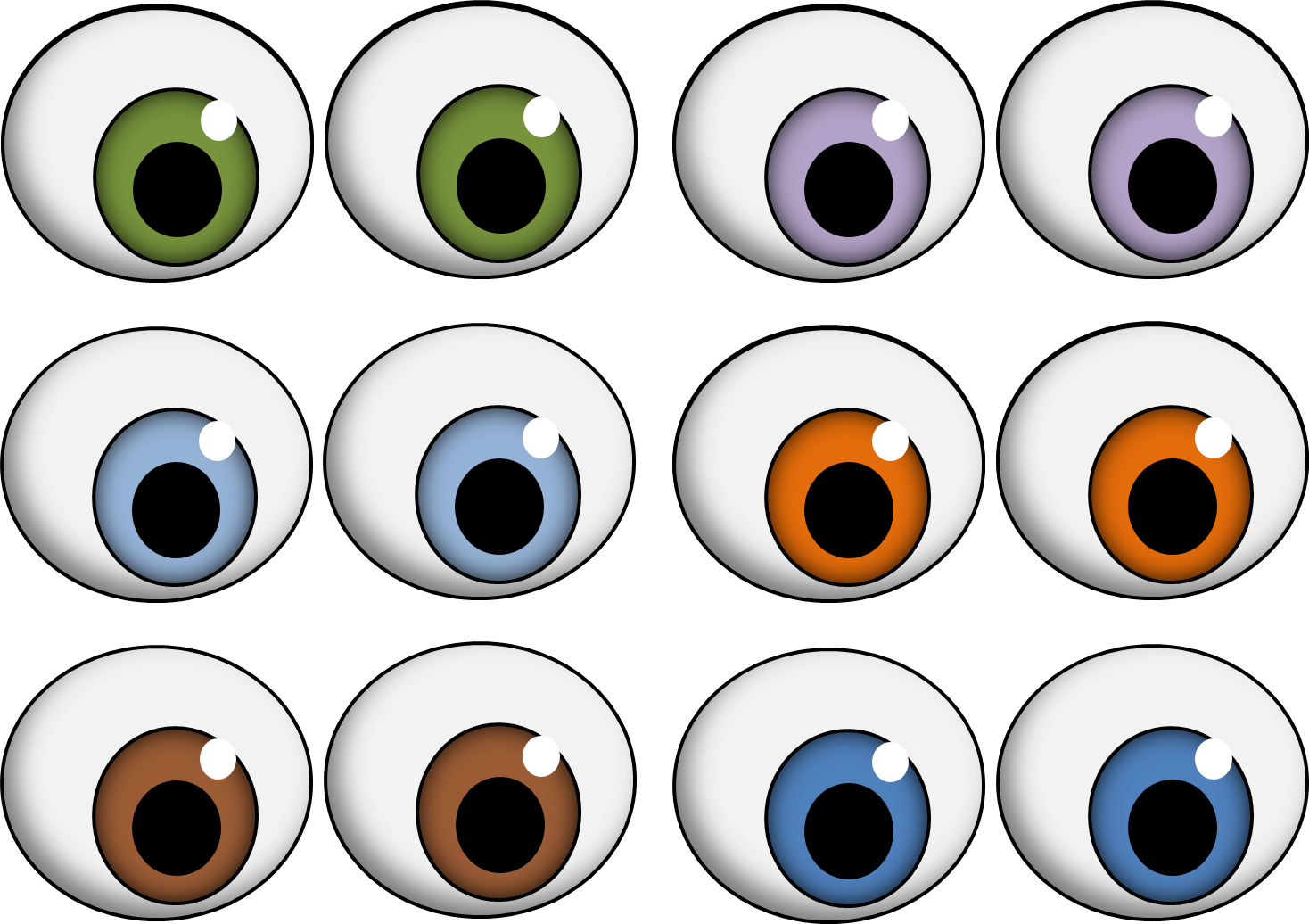 Monster Eyes Clipart - Tumundografico