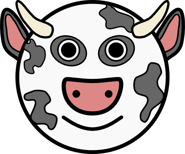 cow clipart simple - photo #26