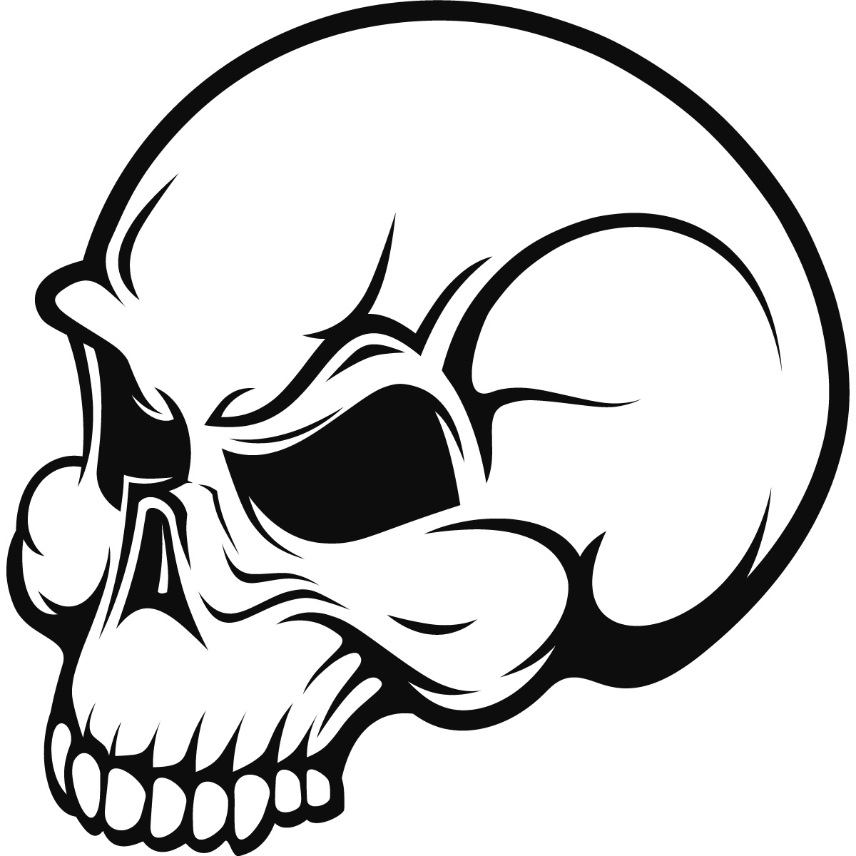 Scary Skull Halloween Wall Art Sticker Wall Decal ...