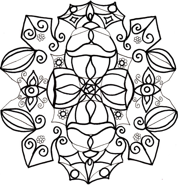 Winter Coloring Pages Snowflakes Clip Art Black And Black And White Colouring Pages