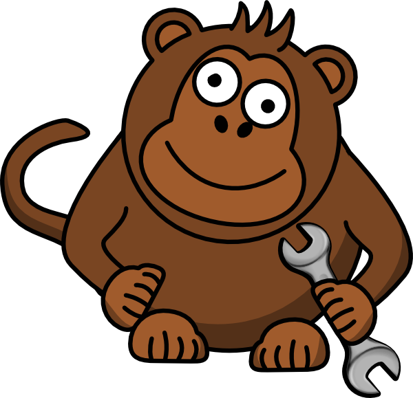 Monkey Wrench clip art - vector clip art online, royalty free ...