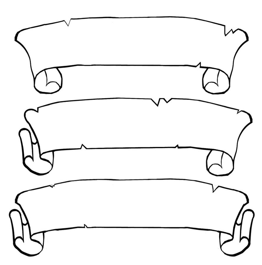 scroll drawing template scroll template free download clipart best