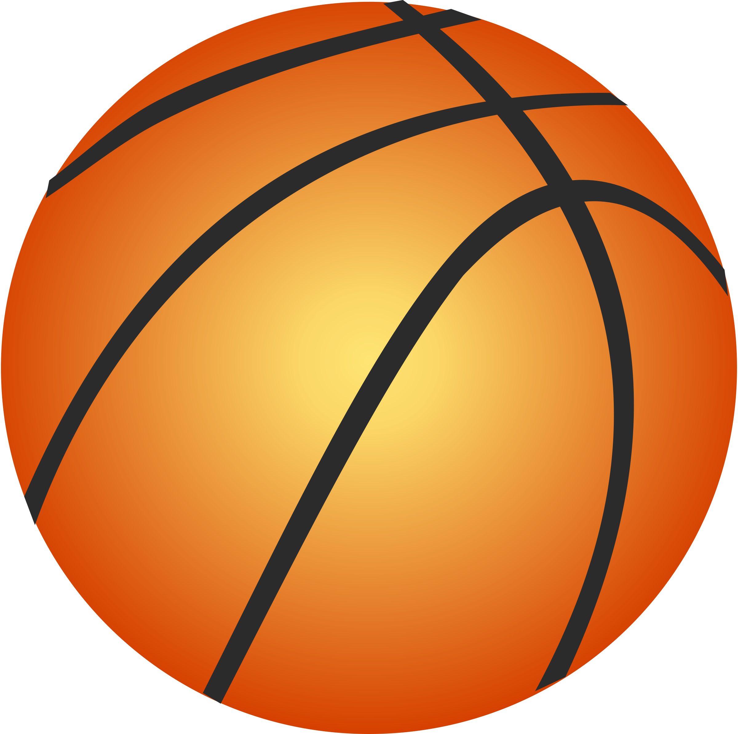 Half Basketball Outline - ClipArt Best