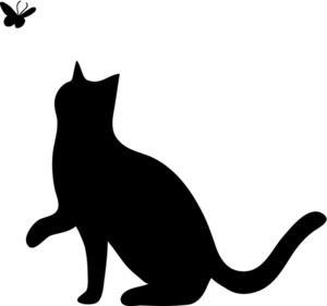 Black Cat Silhouette Clip Art - ClipArt Best