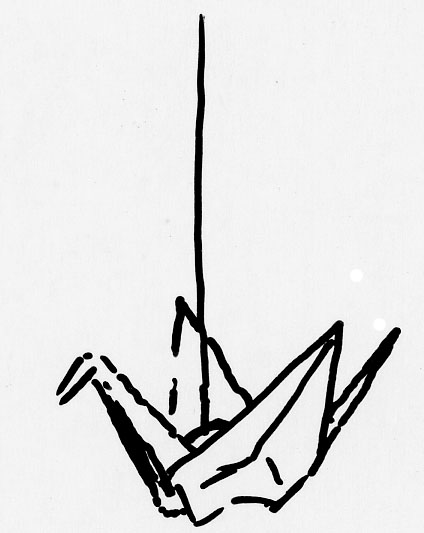 Origami Crane Clipart